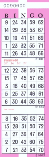 Tulostettavat bingolaput - CasinoNtuntija